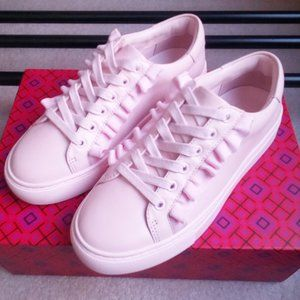 Tory Burch Tory Sport Ruffle Leather Sneakers NEW